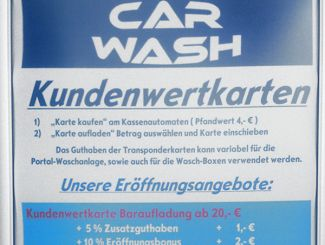Car Wash Kundenwertkarte